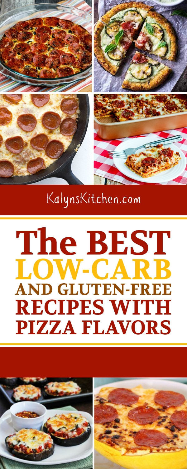 Pinterest image of The BEST Low-Carb and Gluten-Free Recipes with Pizza Flavors