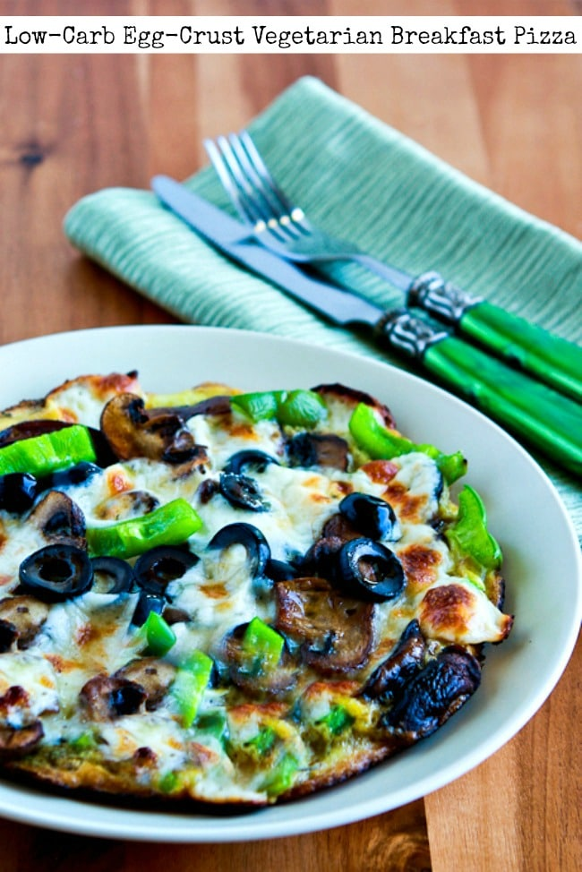 Low-Carb Egg-Crust Vegetarian Breakfast Pizza title photo