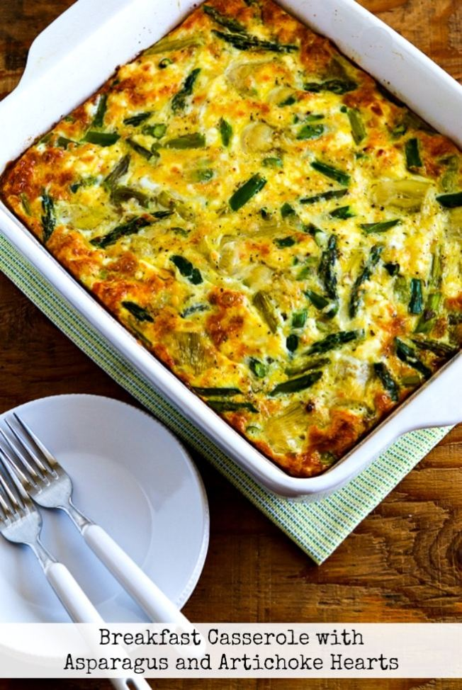 Breakfast Casserole with Asparagus and Artichoke Hearts title photo