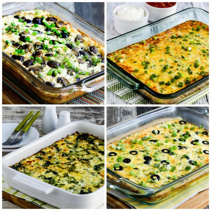 Low-Carb and Keto Breakfast Casseroles (Master Recipes) photo collage for top