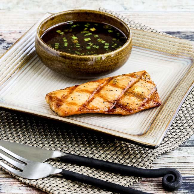 Soy-Grilled Mahi Mahi with Korean Dipping Sauce