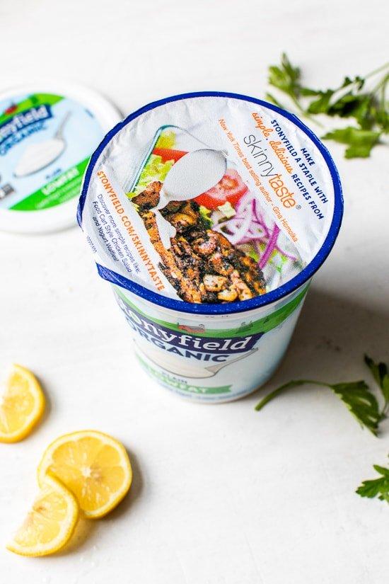 Stonyfield yogurt container