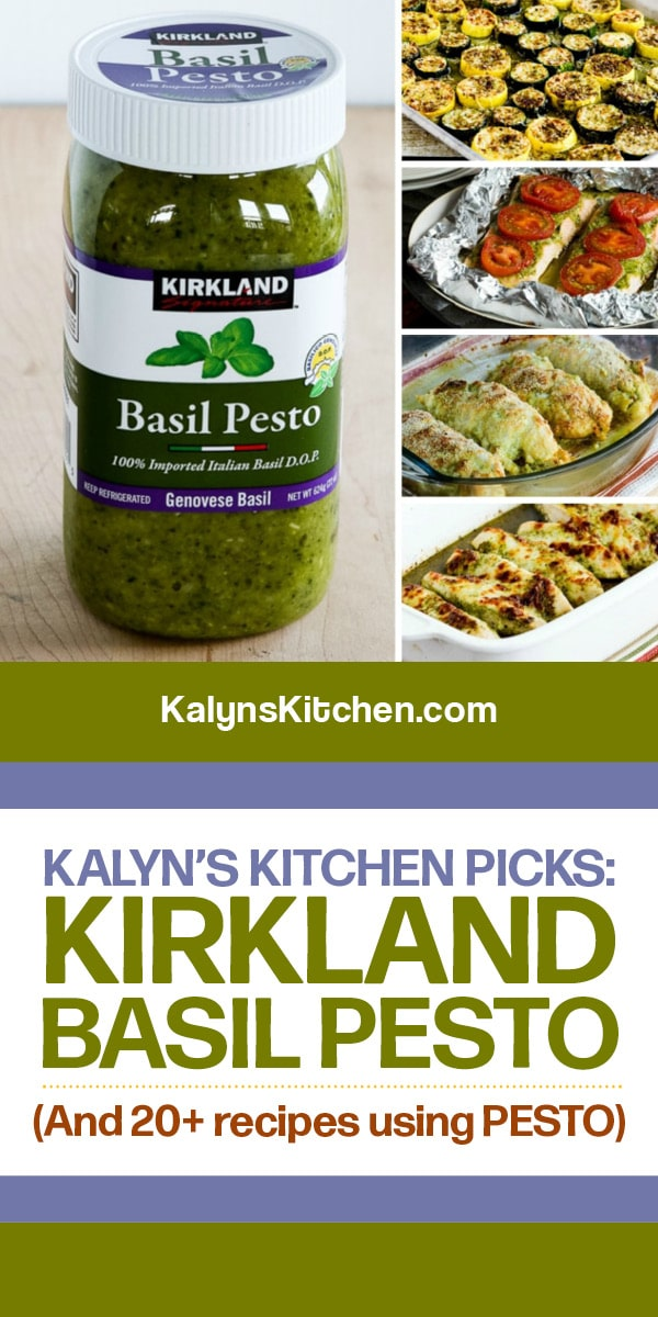 Pinterest image of Kalyn's Kitchen Picks: Kirkland Basil Pesto