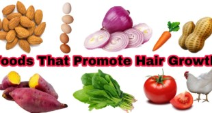 foods that promote hair growth and make hair shiny and healthy