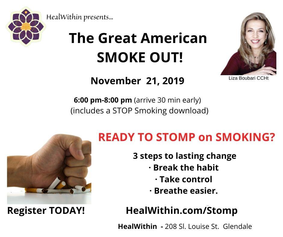 stomp on smoking smoke