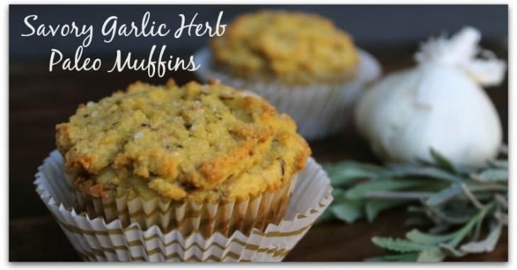 Savory Garlic Herb Paleo Muffins