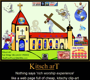 bad church web design poster #0002 - kitch art