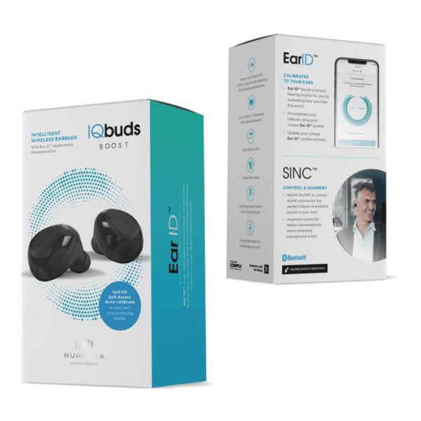 Nuheara IQ Buds boost packaging