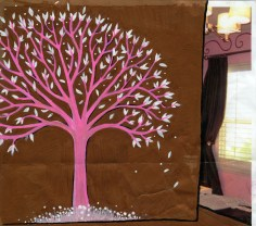 Winter 2010 - Pink Tree Sketch 2 (In a pink room)