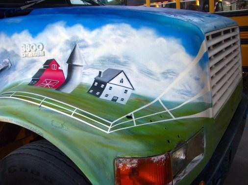 Bus - Farmland & Fence