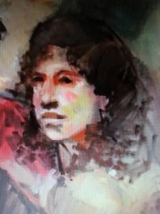 "Jerry Ross ""Anita Garibaldi, Italian Revolutionary"" digital print on canvas, 16""x20"" 2016"