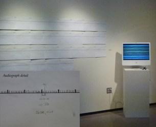 "Kathleen Caprario ""White Noise/The Peacekeeper"" audiograph, computer monitor 2016"