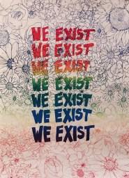 "Elisa Courtway and Jake Harrison ""We Exist"" screenprint"