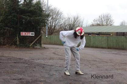 "Katie Lennard ""Fool in Hanwell FC Carpark"" Giclee print on Fotospeed Matt, 84x59cm 2015"
