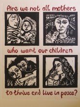 "Ann Truax ""Mothers"" linocut, 2013"