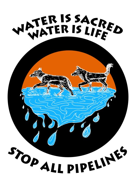 """Poster Syndicate """"Water is Sacred"""" screenprint 2016"""