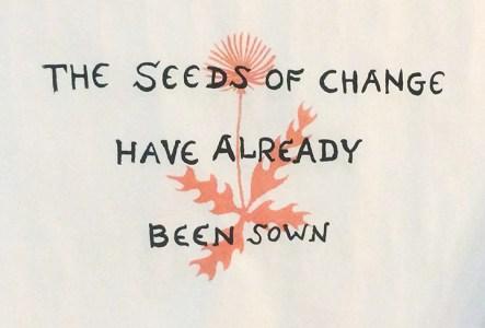 "Roxanne Deyerce ""Seeds of Change"" screenprint"