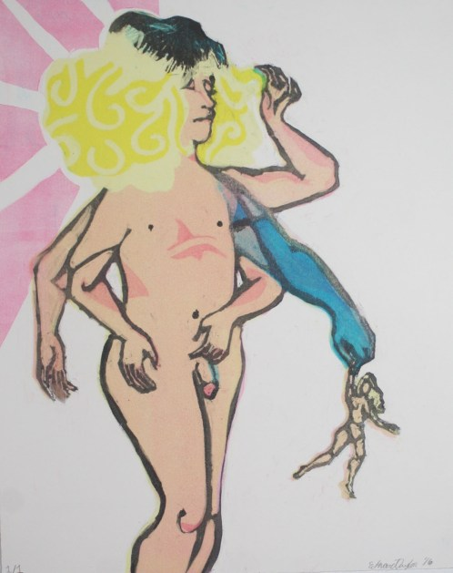 "Edward Taylor ""Doll for a Boy"" monotype, 11""x14"""