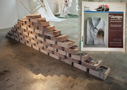 """Raquel Torres Arzola """"LAS MIL Y UNA NOCHES_ Thousand and one nights"""" installation, dimension variable, 2012"""
