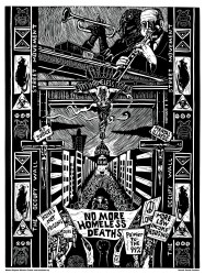 """Western Regional Advocacy Project """"No More Homeless Deaths"""" offset print 2009"""