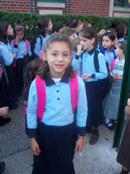 girl with bilateral cochlear implants on the way to mainstream school