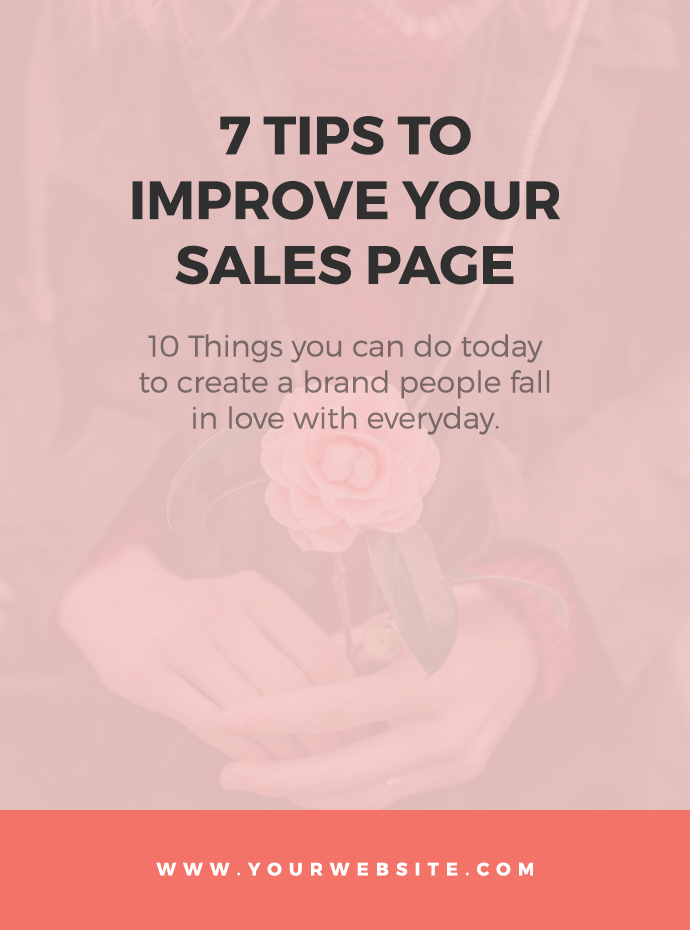 7 Tips to Improve Your Sales Page Copy
