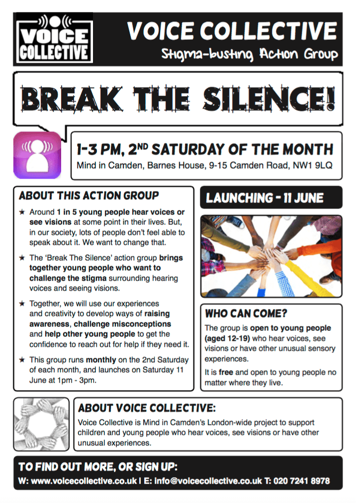 Break the Silence flyer