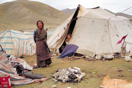 Mt Kailash: Mother and child in tent home