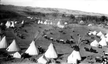 The Parade, Crow Fair, 1924, Lodgegrass, MT