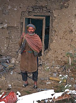 Guard at Qala-i-Jhangi
