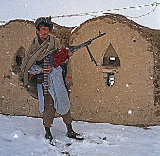 Guard at the wall of Qala-i-Jhangi