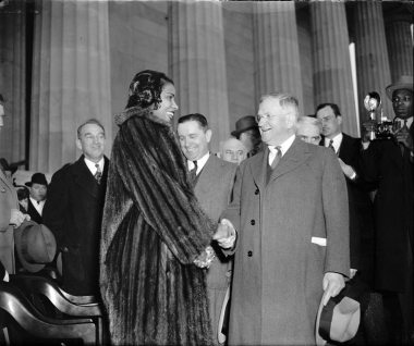 Marian Anderson and Interior Secretary Ickes