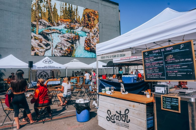 Food and Restaurants in Banff- Farmers Market - tosomeplacenew