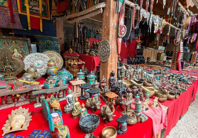 Handicraft Stalls, Thimphu. Image Source