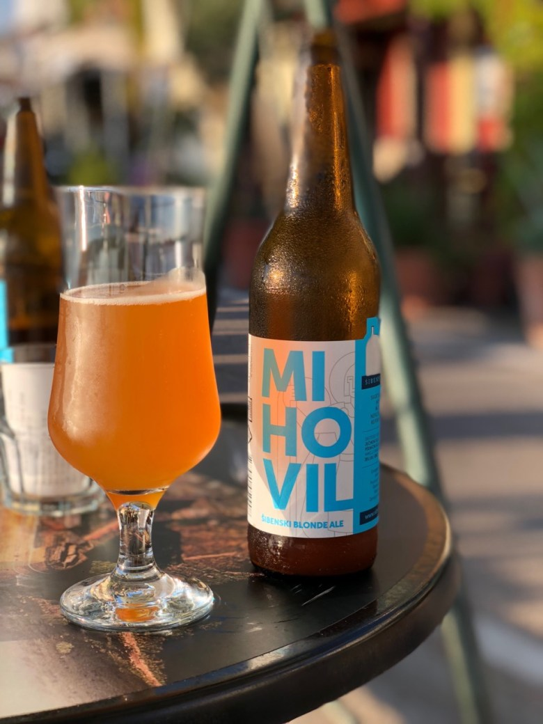 Locally produced beer Mihovil