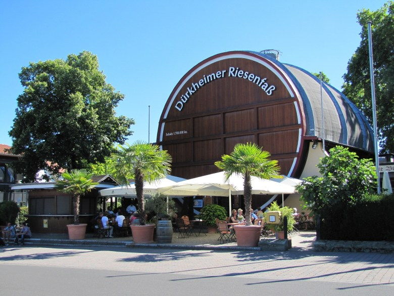 Giant wine barrel in Bad Dürkheim which is big enough to host a pub inside it