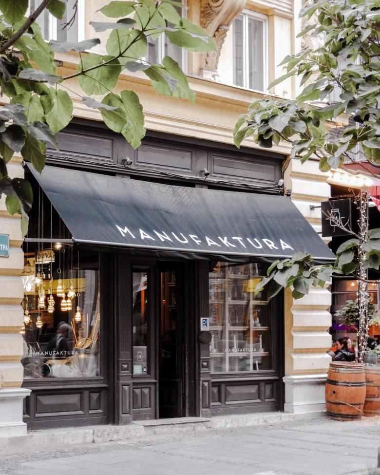 Manufaktura restaurant in the heart of Belgrade