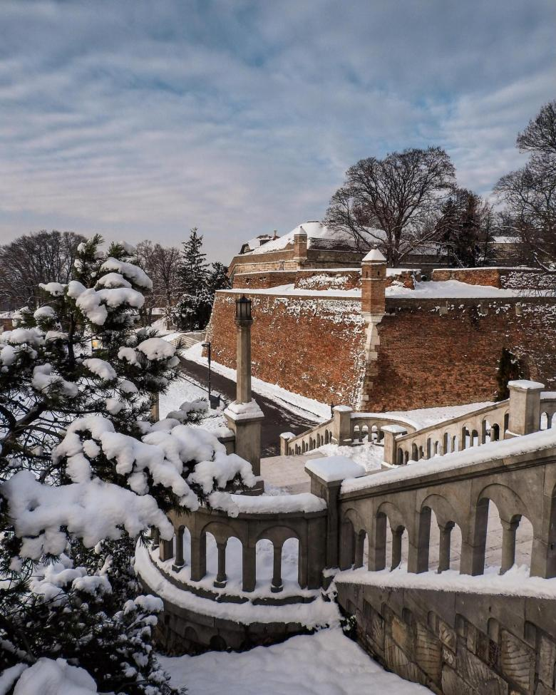 Belgrade Fortress in Winter