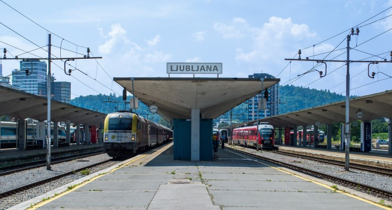 The Ljubljana Central Train Station