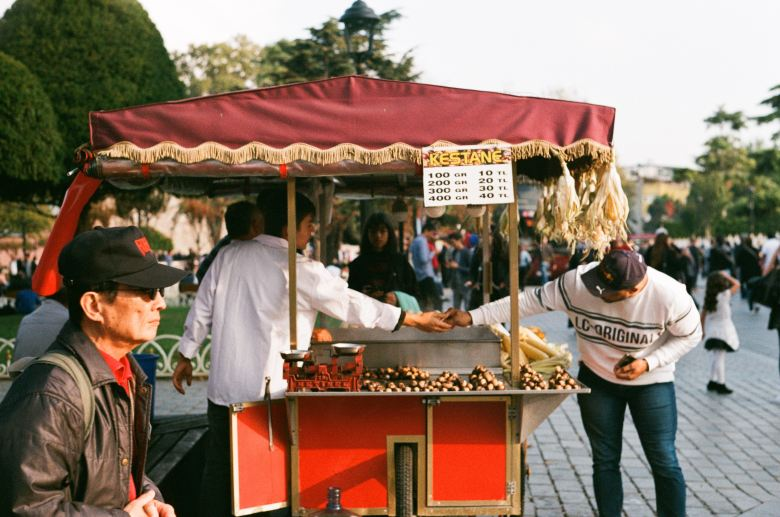 You will have a hard time resisting the tantalising scent of street food in Istanbul.