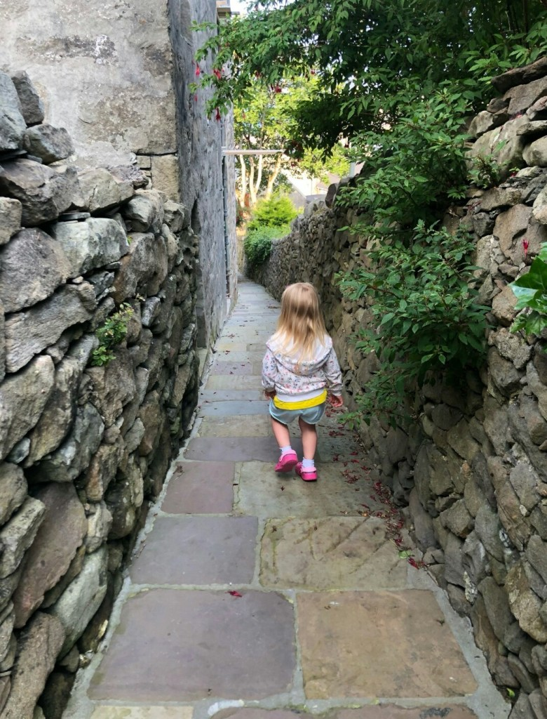 Exploring the narrow lanes in Lerwick's old town