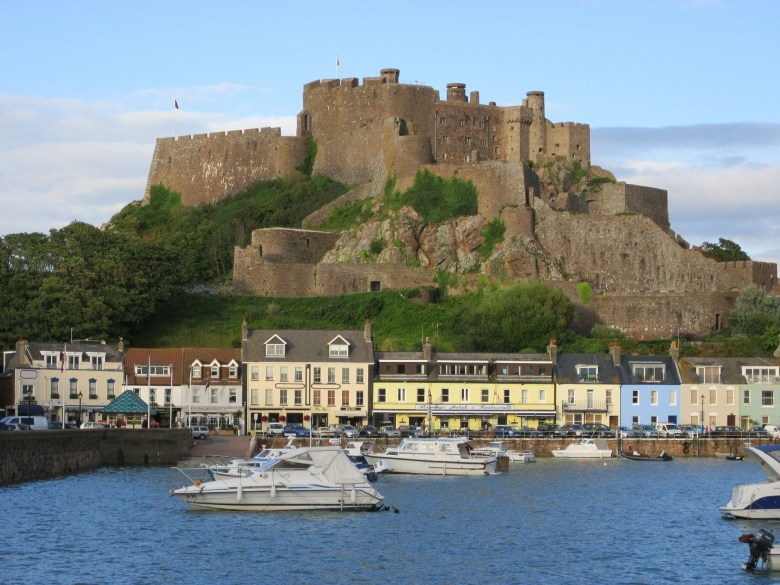 Gorey Harbour and Mont Orgueil castle