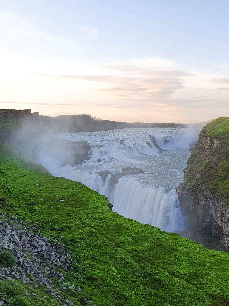 Gullfoss Waterfall in the canyon of the Hvítá river in southwest Iceland