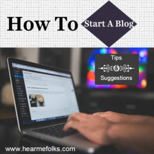 how to start a blog, selfhosted