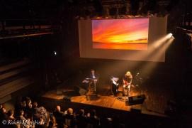 Shiro Sano (left) and Kyoji Yamamoto on February 2015 at Yamaha Ginza Studio, Tokyo, Japan.