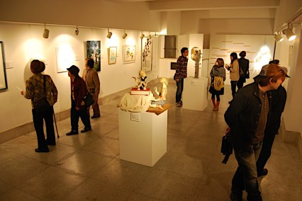 Art exhibition at Karakoro Art Studio, Matsue, Japan on Nevember 2010.