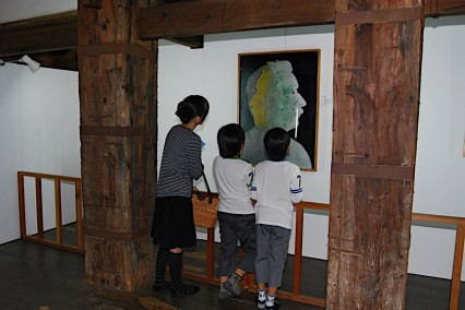 Art exhibition at Matsue Castle, Japan on October 2010.
