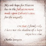 Autobiography - Full Atonement - Spurgeon Photo Quote