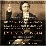 102. Living in Sin - Charles Spurgeon Reformed Quote Old Young Photo
