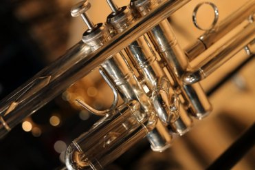 Close up of brass instrument